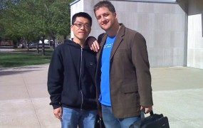 Dong-yi and Tyler, FLA Editors, at PLA 2010, Purdue University