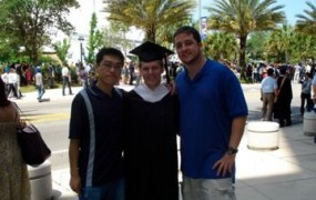 Lee Ballard's MA Graduation at University of Florida, with Dong-yi Lin and Tyler McPeek
