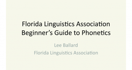 Beginner's Guide to Phonetics (Part 1)